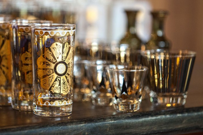 Vintage glassware Bud & marilyn