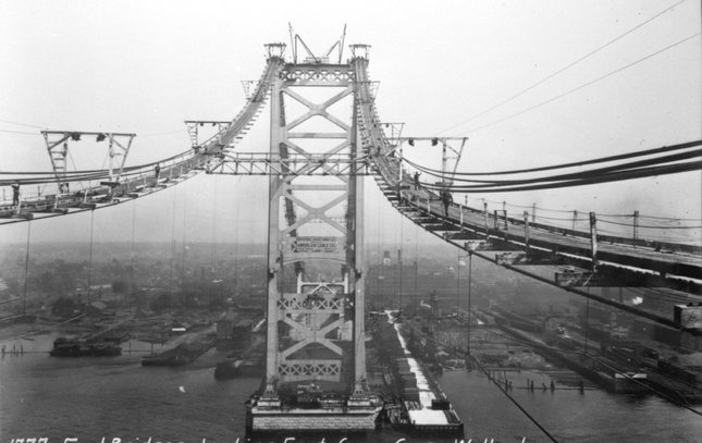 Ben Franklin Bridge construction 4