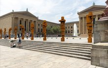 """STAND"" by Antony Gormley at Philadelphia Museum of Art"