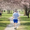 Stock_Carroll - Running along the Schuylkill River Trail on a spring a