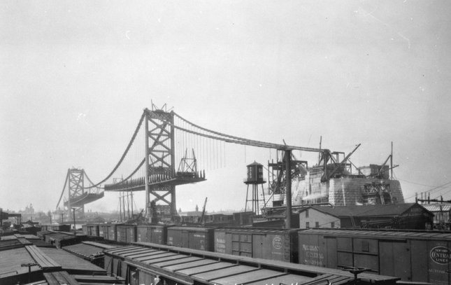 Ben Franklin Bridge construction 16