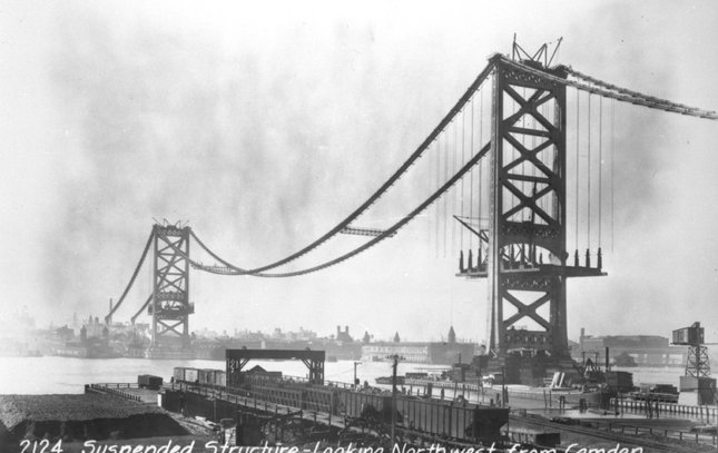 Ben Franklin Bridge construction 17