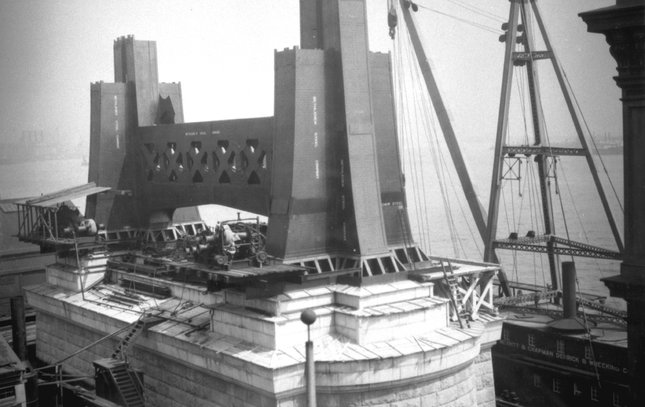 Ben Franklin Bridge construction 18