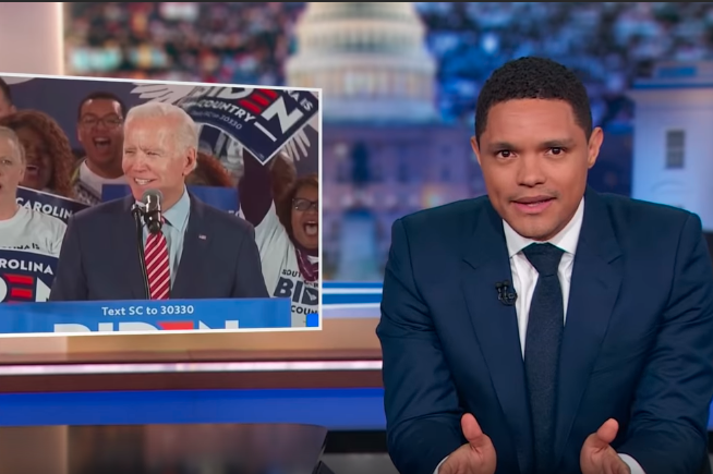 "Joe Biden campaign ""Daily Show"""
