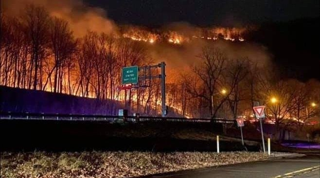 Wildfire Delaware Water Gap