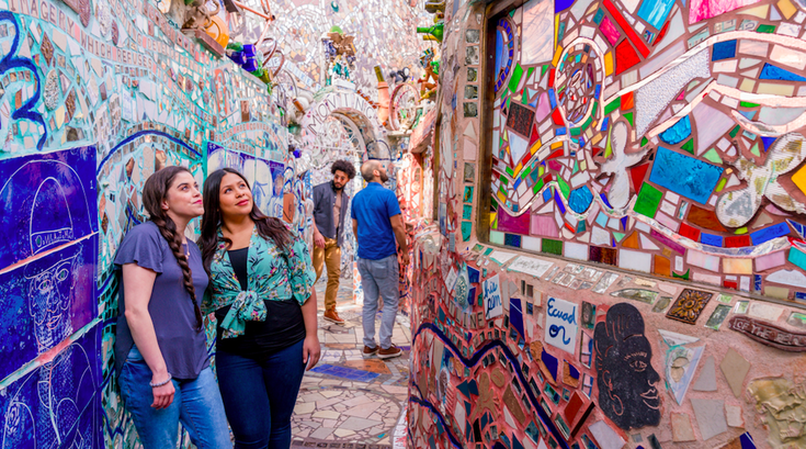 Coloring book pages from Philadelphia's Magic Gardens
