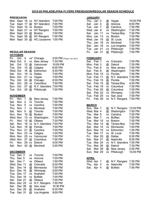 Irresistible image within philadelphia flyers printable schedule