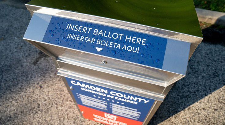 NJ primary ballot drop box