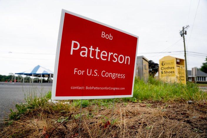 NJ primary Bob Patterson sign