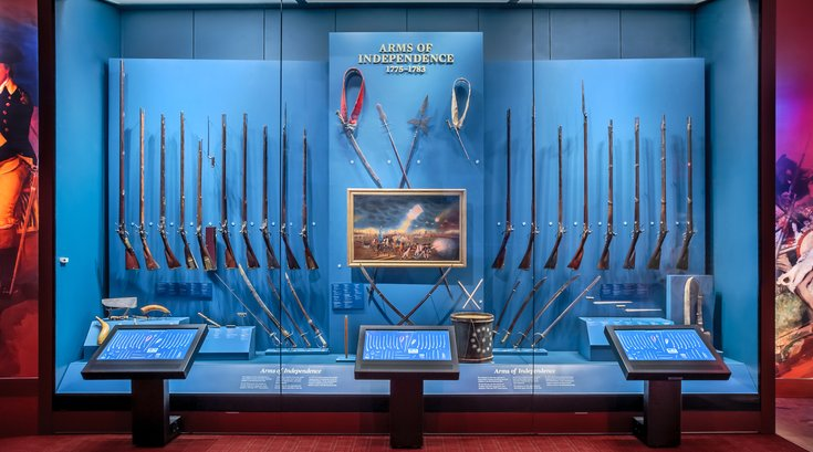 Display at the Museum of the American Revolution