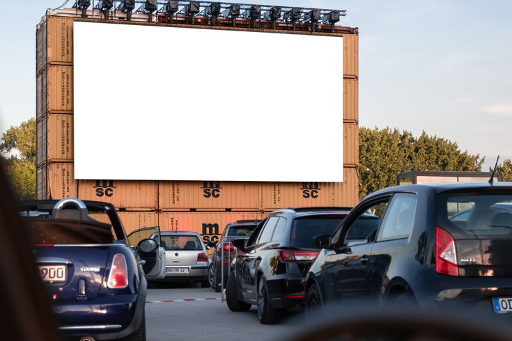 Drive-in theater at the Navy Yard