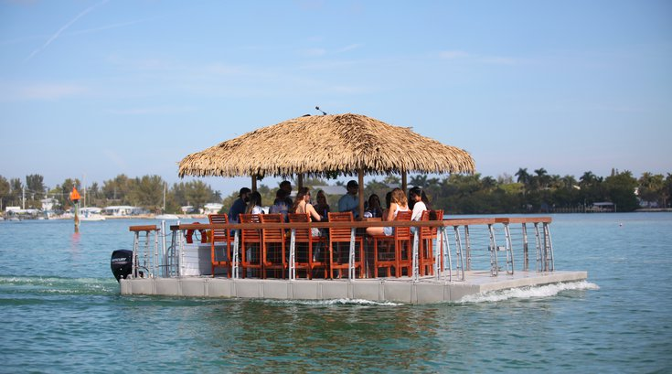 Floating Tiki Bar in Ocean City