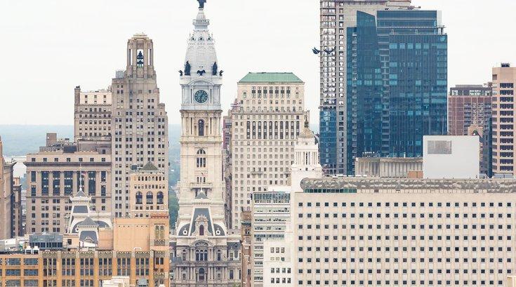 Philadelphia City Hall  and philly Skyline