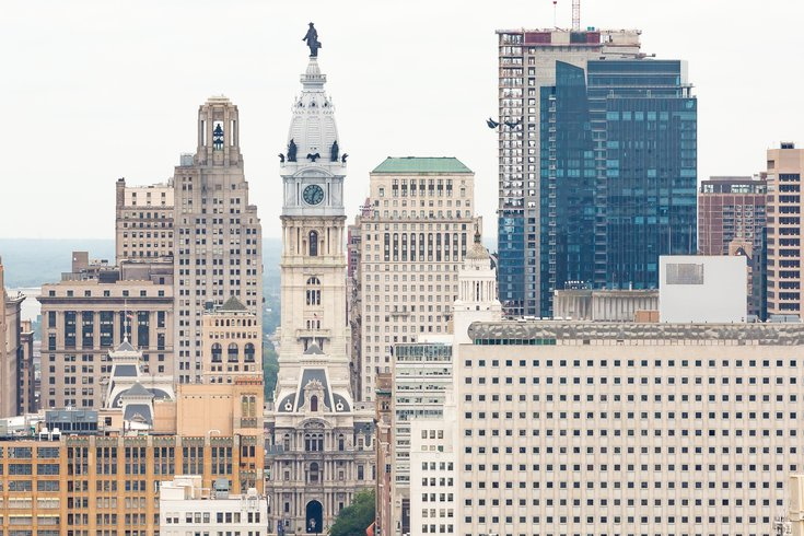 Philadelphia City Hall  and philly Skyline
