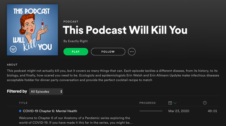 This Podcast Will Kill You has new series on COVID-19