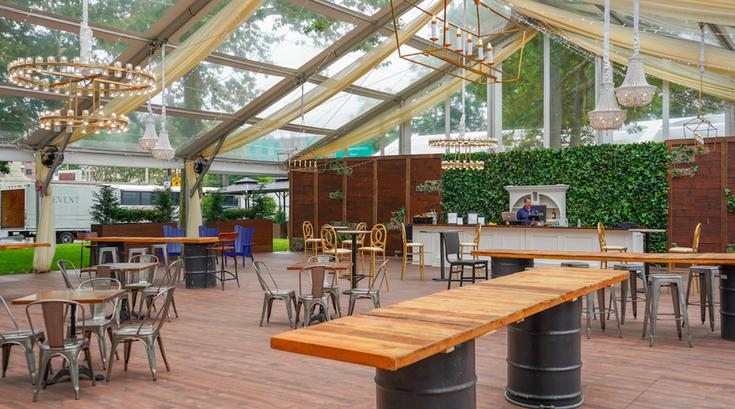Franklin Square beer garden