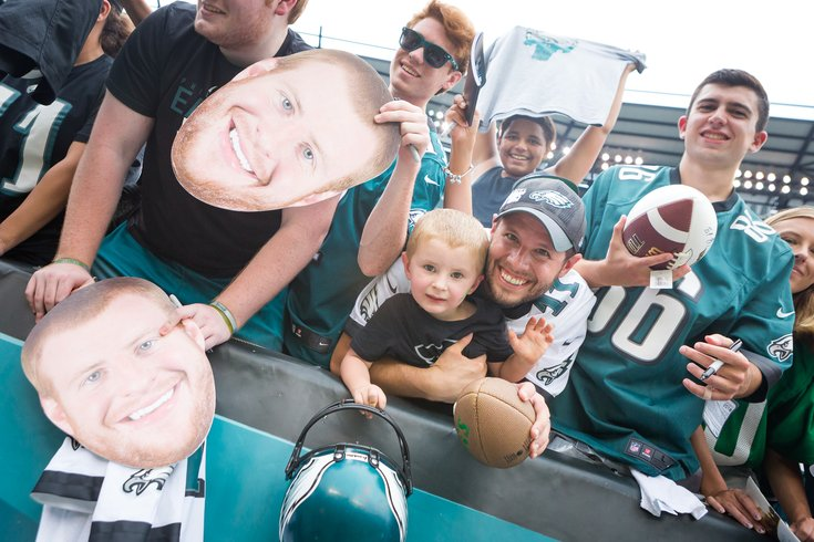 Carroll - Fans at the Eagles Public Practice