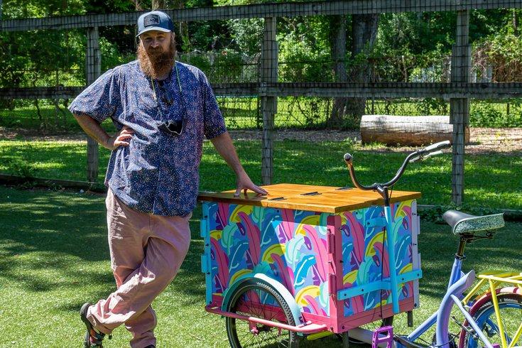 White Dog ice cream cart