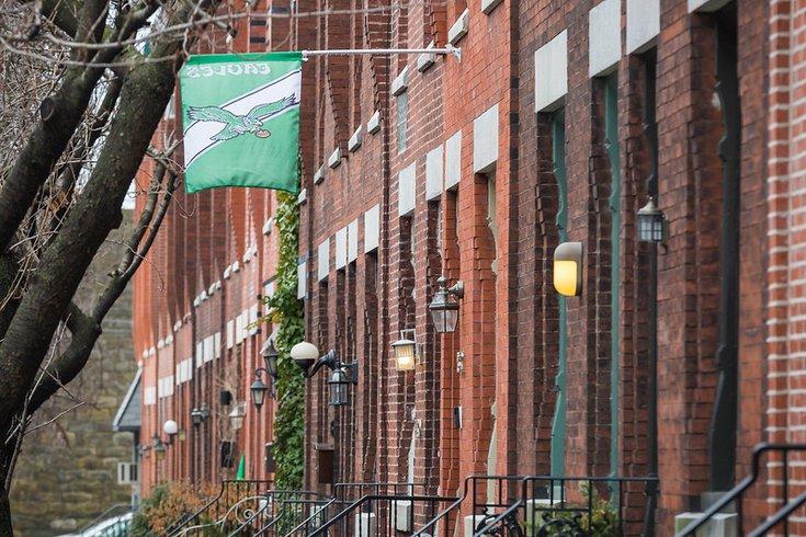 Rowhomes in Philly Fairmount neighborhood