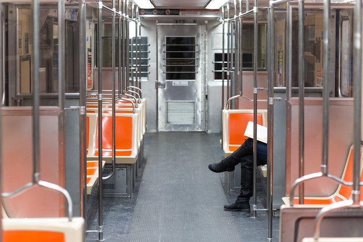 Train car with one person