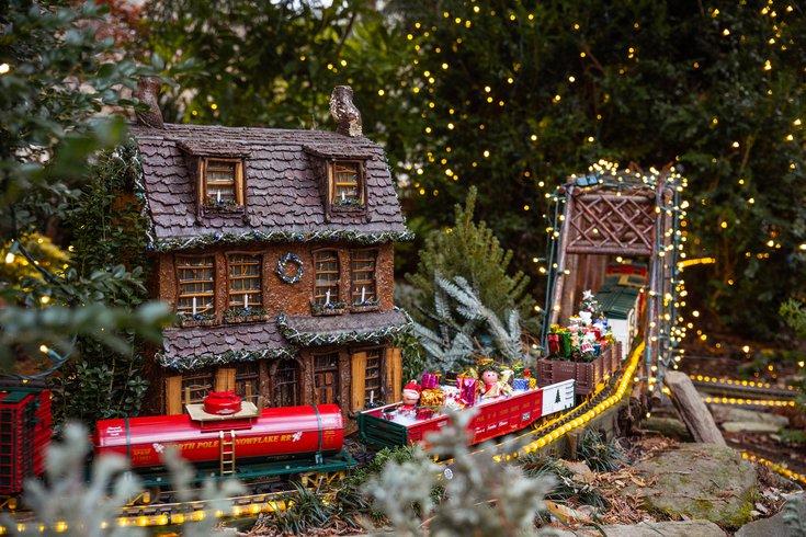 Morris Arboretum holiday railway