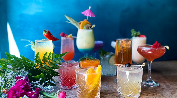 Charlie was a sinner. cocktails