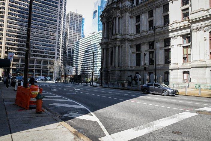 coronavirus empty philly city hall