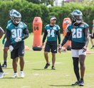 Carroll - Eagles Stock Wendell Smallwood, Corey Clement, Donnel