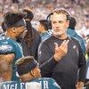 Carroll - Philadelphia Eagles Safety Tre Sullivan and defensive backs Coach Cory Undlin.