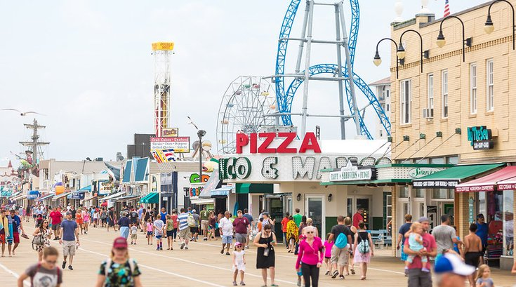 The Ocean City Boardwalk in New Jersey
