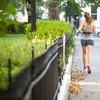 Woman running through Rittenhouse