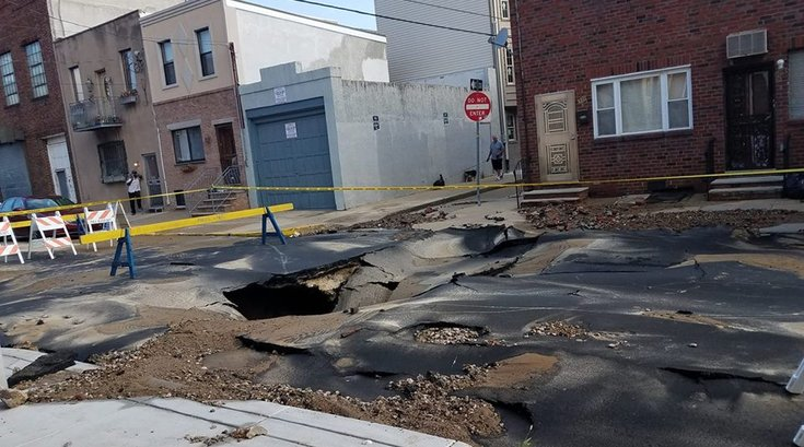 South Philly Water Main Break
