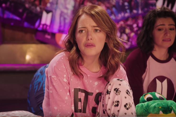 Emma Stone fangirls over BTS in new 'Saturday Night Live' promo