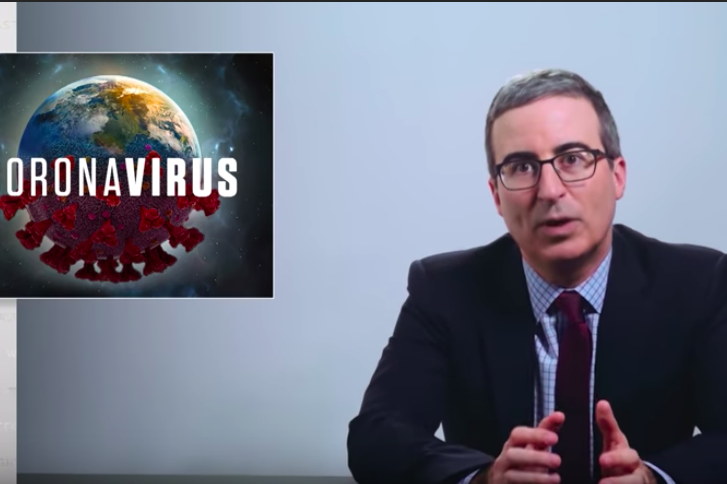 John Oliver rat erotica coronavirus