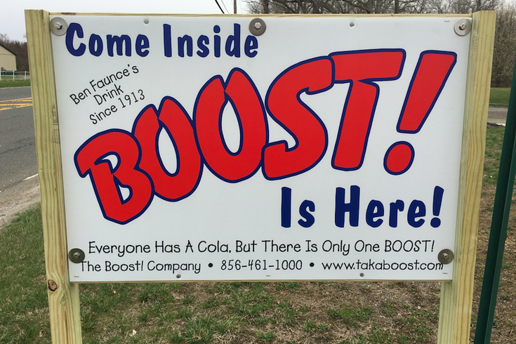 BOOST! sign