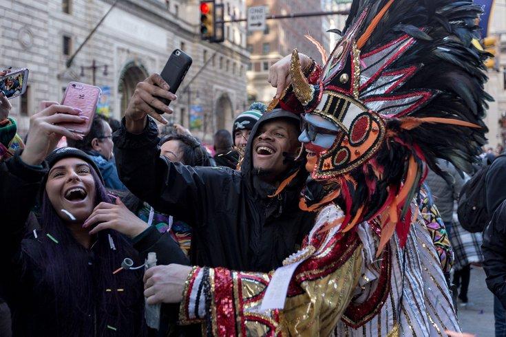 2017 mummers parade selfie