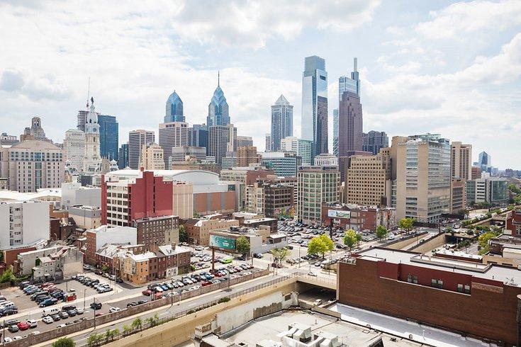 Distant photograph of Philadelphia