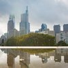 Philadelphia Skyline reflection Carroll -