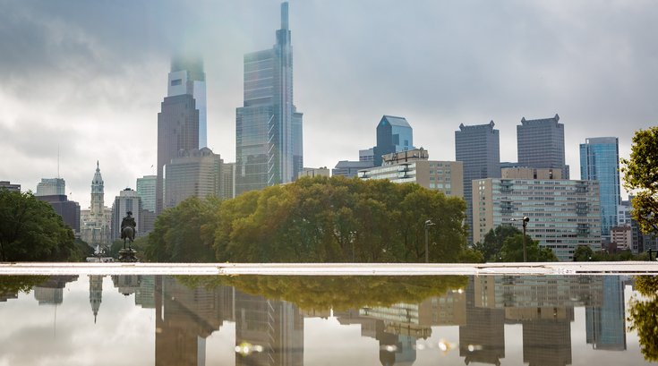 Philadelphia Skyline reflection Carroll -