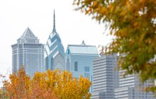 Philly Skyline in the fall