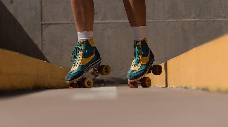 Roller skate at Wells Fargo