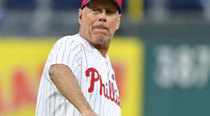 Bruce Willis Phillies first pitch