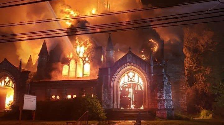 Chester church fire