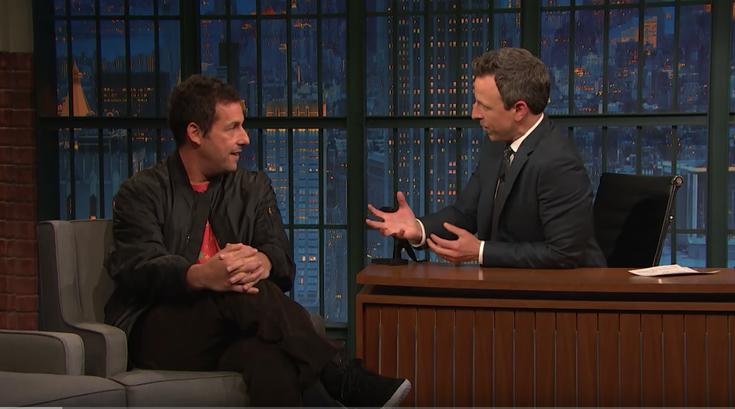 Adam Sandler talks returning to 'Saturday Night Live' with Seth Meyers