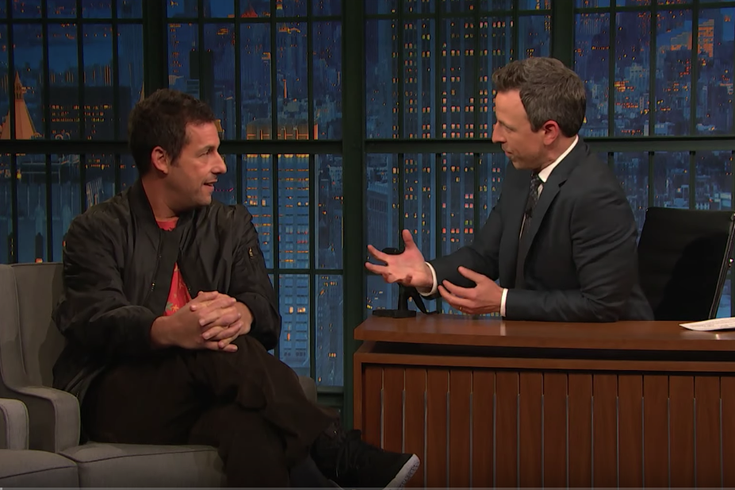 Adam Sandler talks returning to 'Saturday Night Live' with Seth Meyers