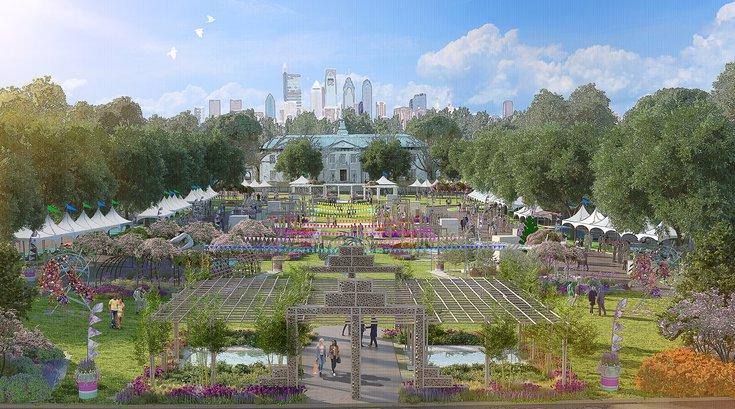 Philadelphia Flower Show rendering