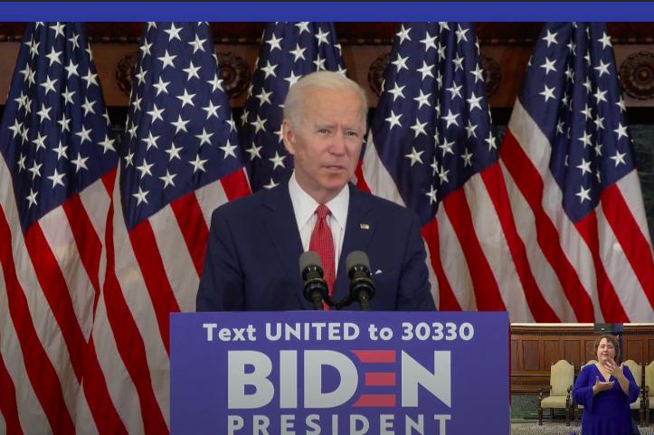 Biden speech protests