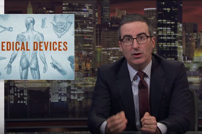 John Oliver medical devices