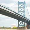 Ben Franklin Bridge south walkway open