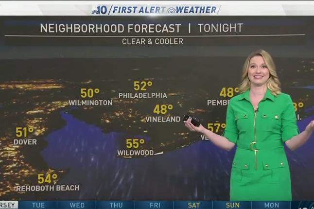 Philadelphian meteorologist on Jimmy Kimmel